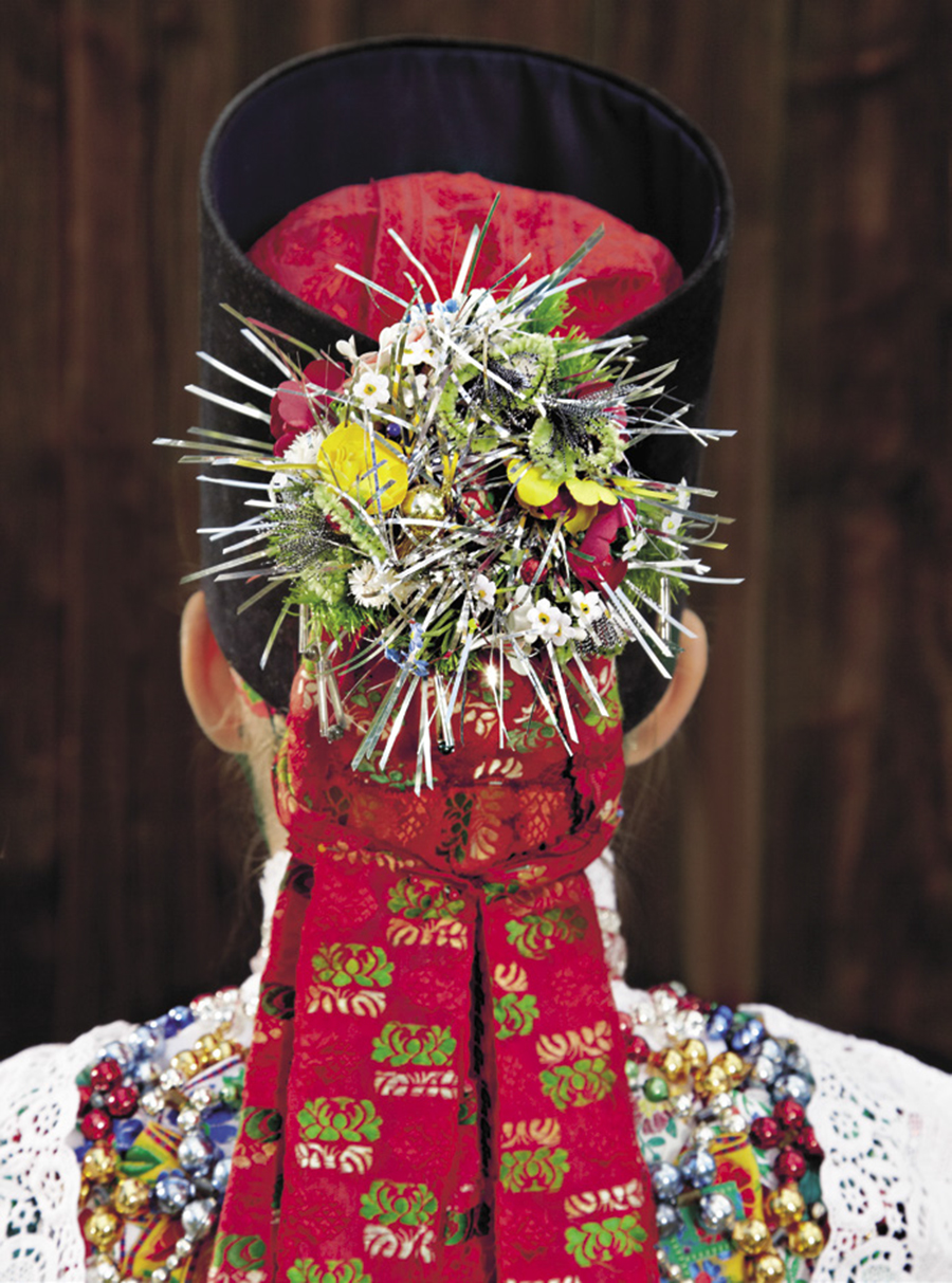Sorbian Tracht Saxony,Bröthen Photoby Gregor Hohenberg from 'Traditional Couture' © Gestalten 2015.