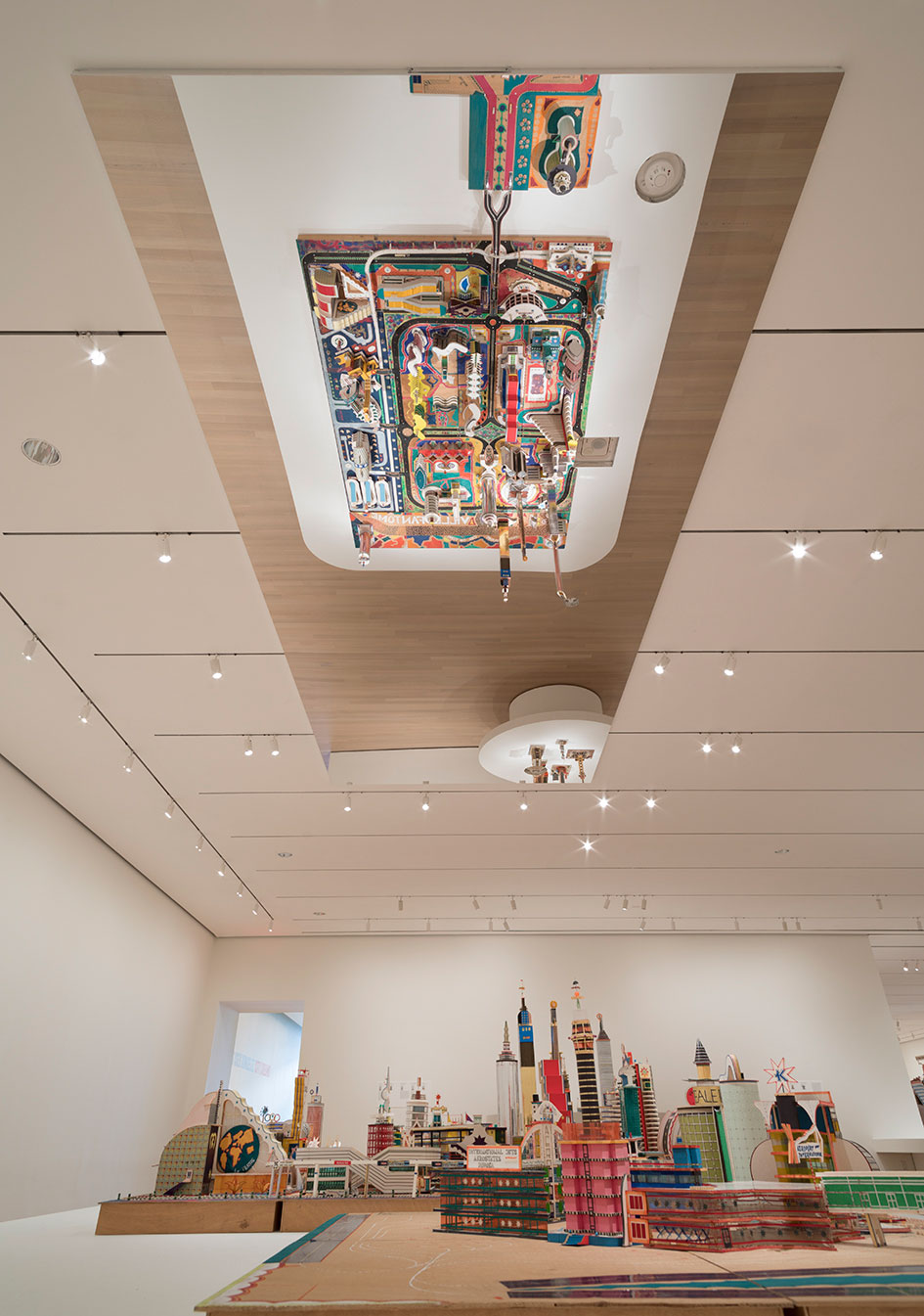 Installation view of Bodys Isek Kingelez: City Dreams, The Museum of Modern Art, New York, May 26, 2018–January 1, 2019. © 2018 The Museum of Modern Art. Photo by Denis Doorly.