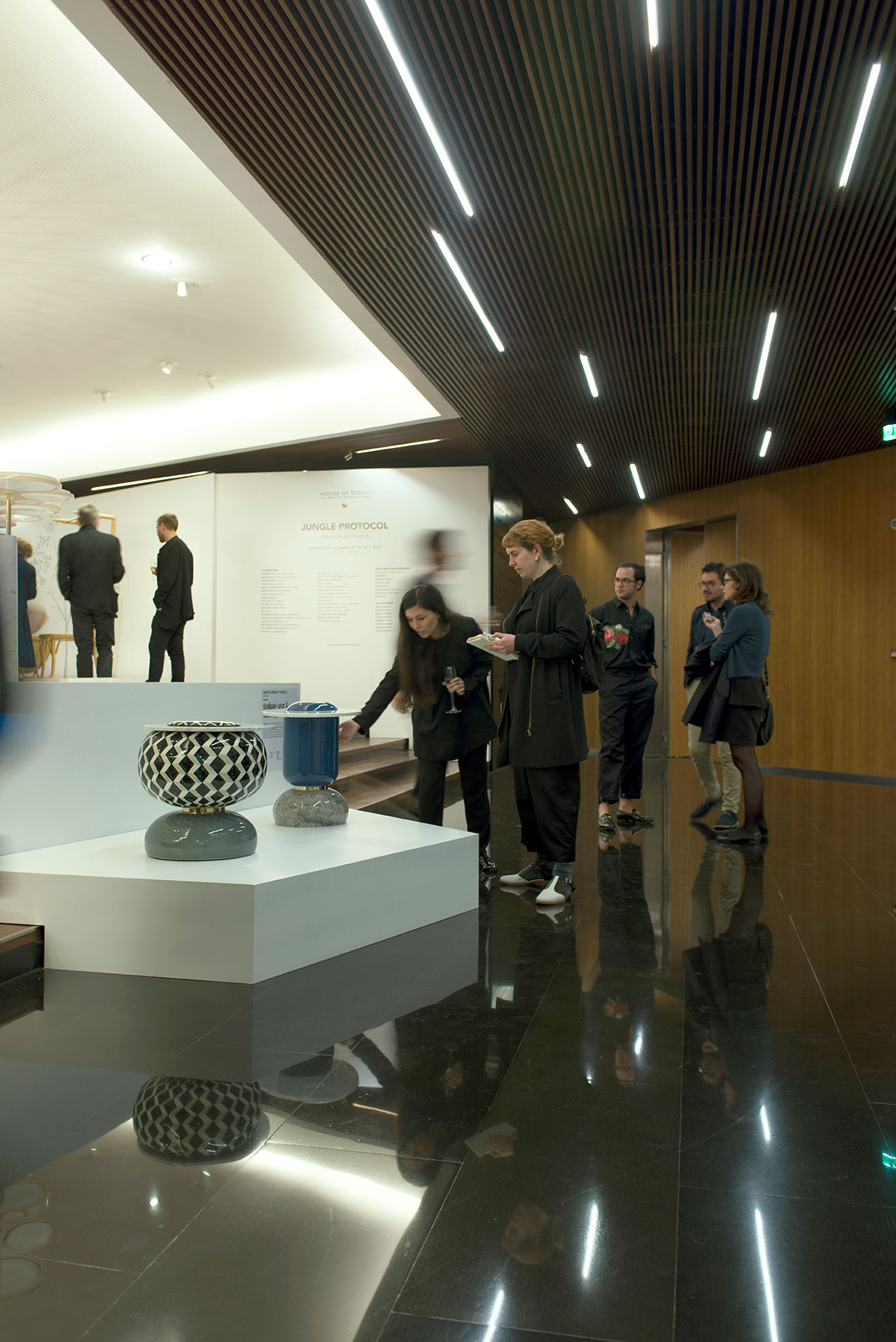 Installation view from the opening day of Jungle Protocol.