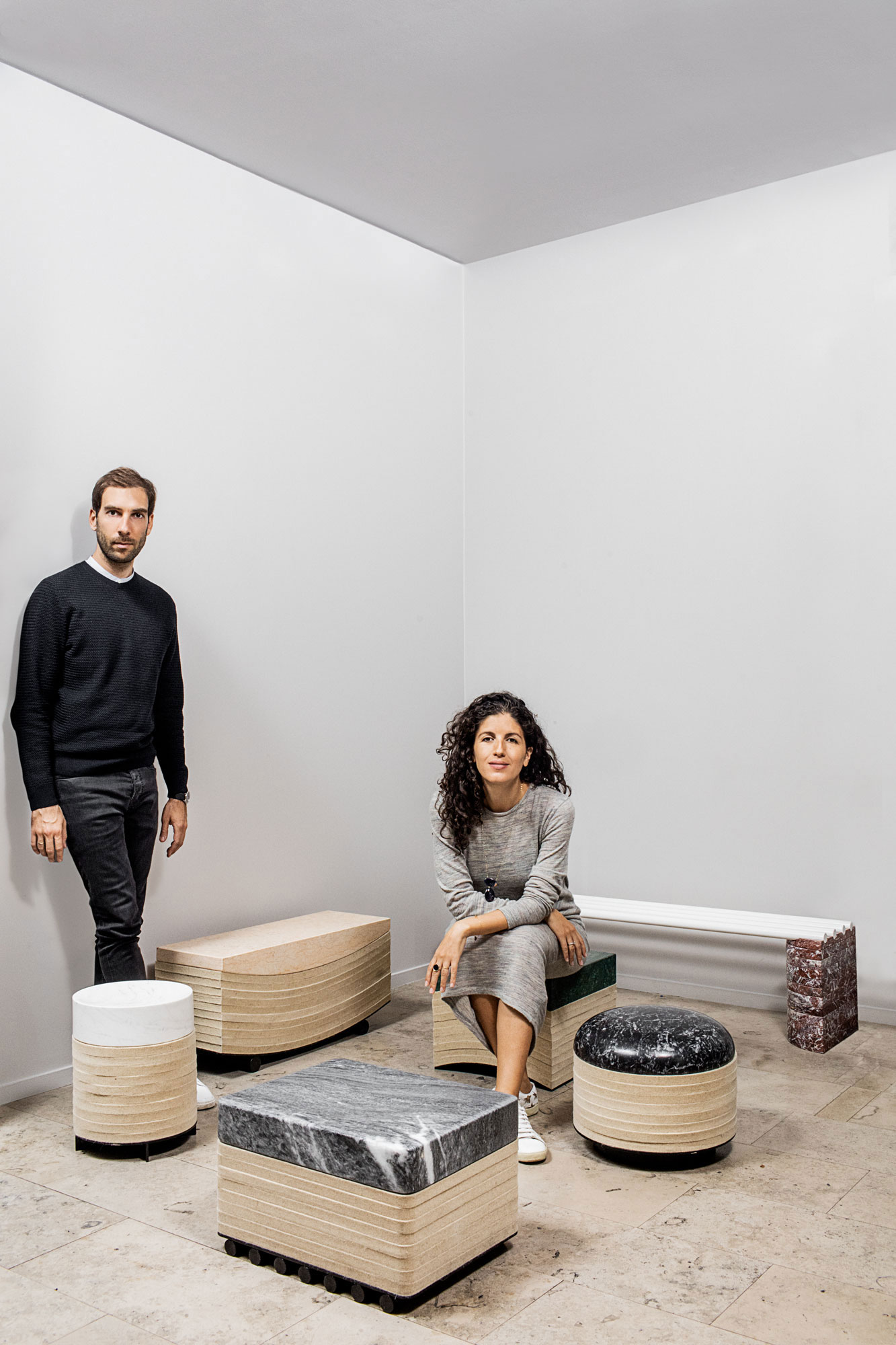 Leonidas Trampoukis & Eleni Petaloti portrait. Photo by Mattheu Salvaing.