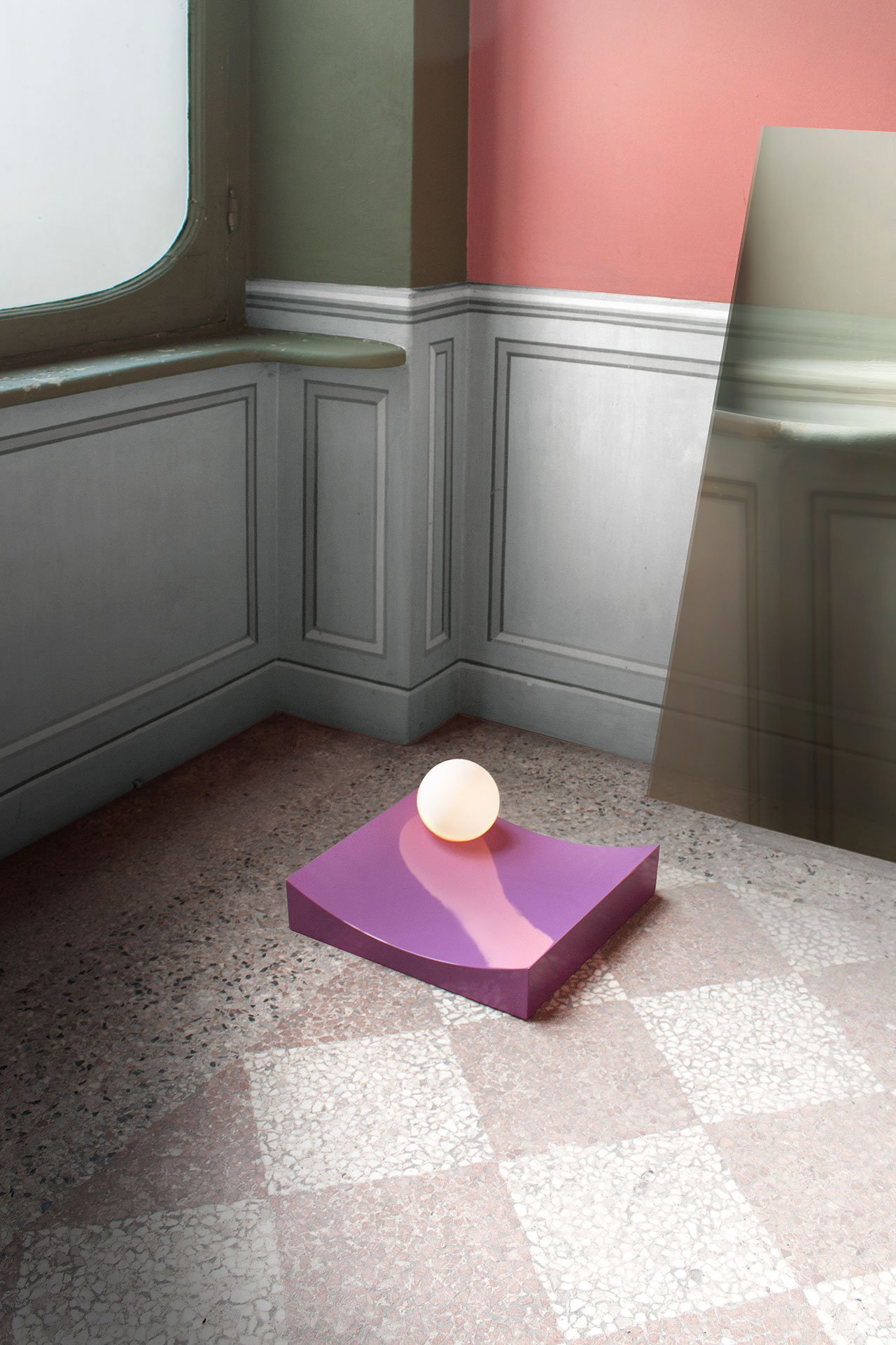 In the Shadow of a Mancollection of sculptural lighting objects by London-basedChild Studio(Alexey Kostikov and Chieh Huang).Photo© Child Studio.