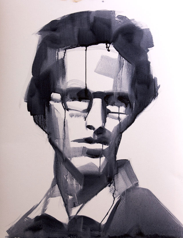 Salman Khoshroo, Sketchstudy,oil on paper, 50x65cm.