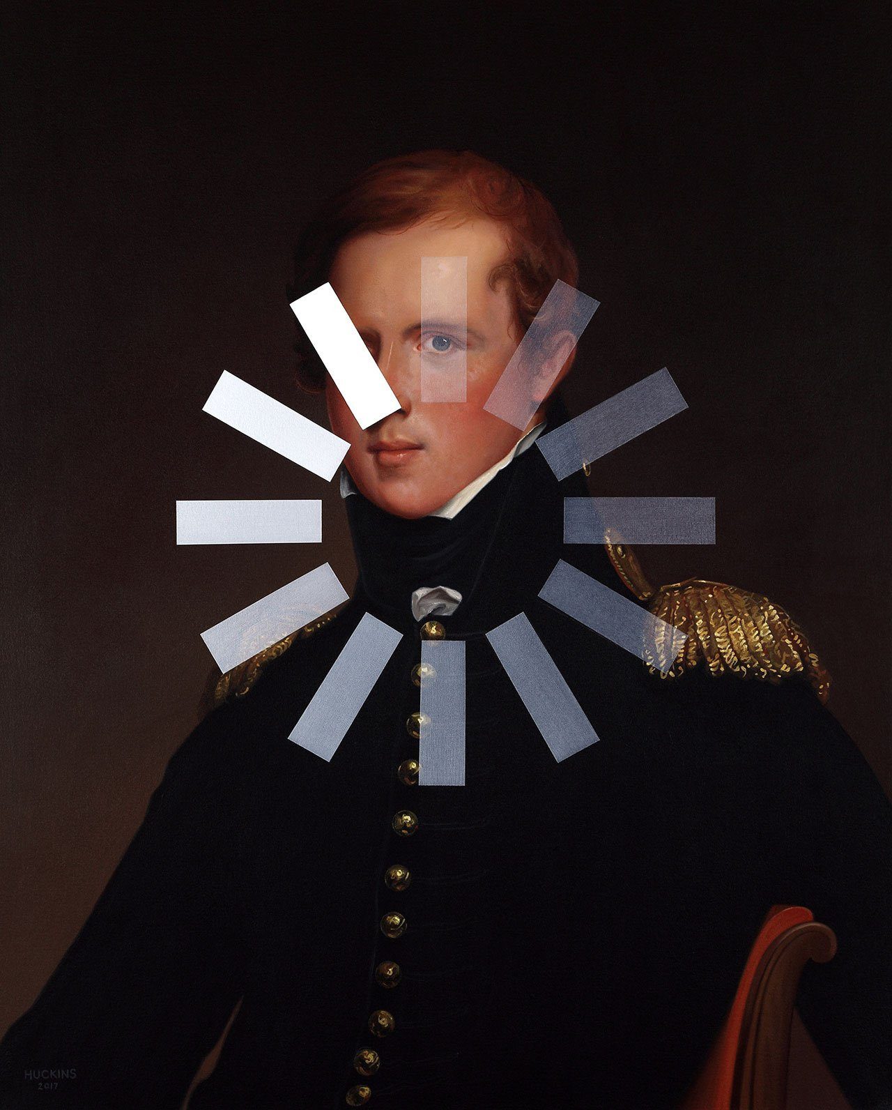 Shawn Huckins, Major John Biddle: Panic Two (Loading Spinner), 2017. Acrylic on canvas, 32 x 26 in (81 x 66 cm).