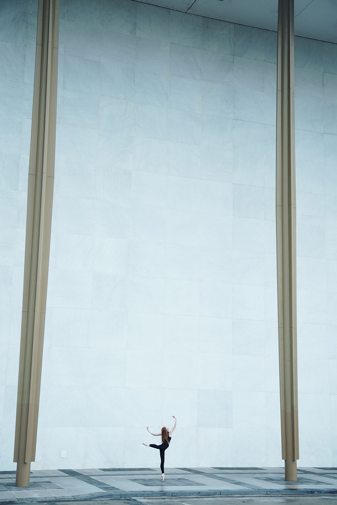 Location: The Kennedy Center | Dancer Melanie Riffee | Photo © Jacob Jonas from the series #CamerasandDancers.