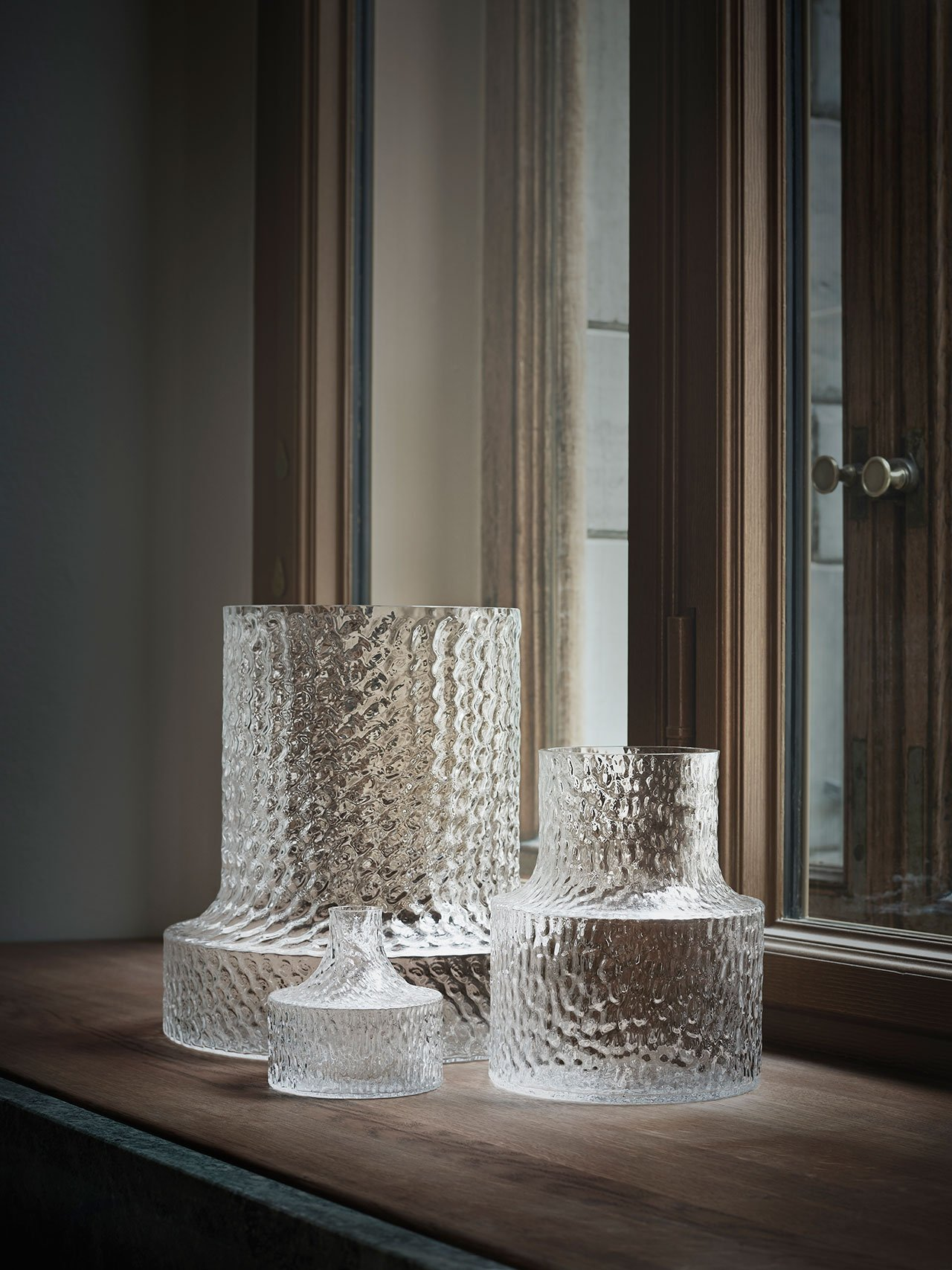 "NM& 080: ""Kolonn"" vases by Carina Seth Andersson produced by Skruf. Photo by Pia Ulin."