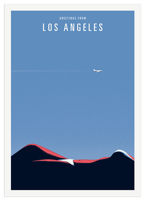 Thomas Danthony, Greetings from Los Angeles, part of a series of illustrated memories printed on postcards. © Thomas Danthony.