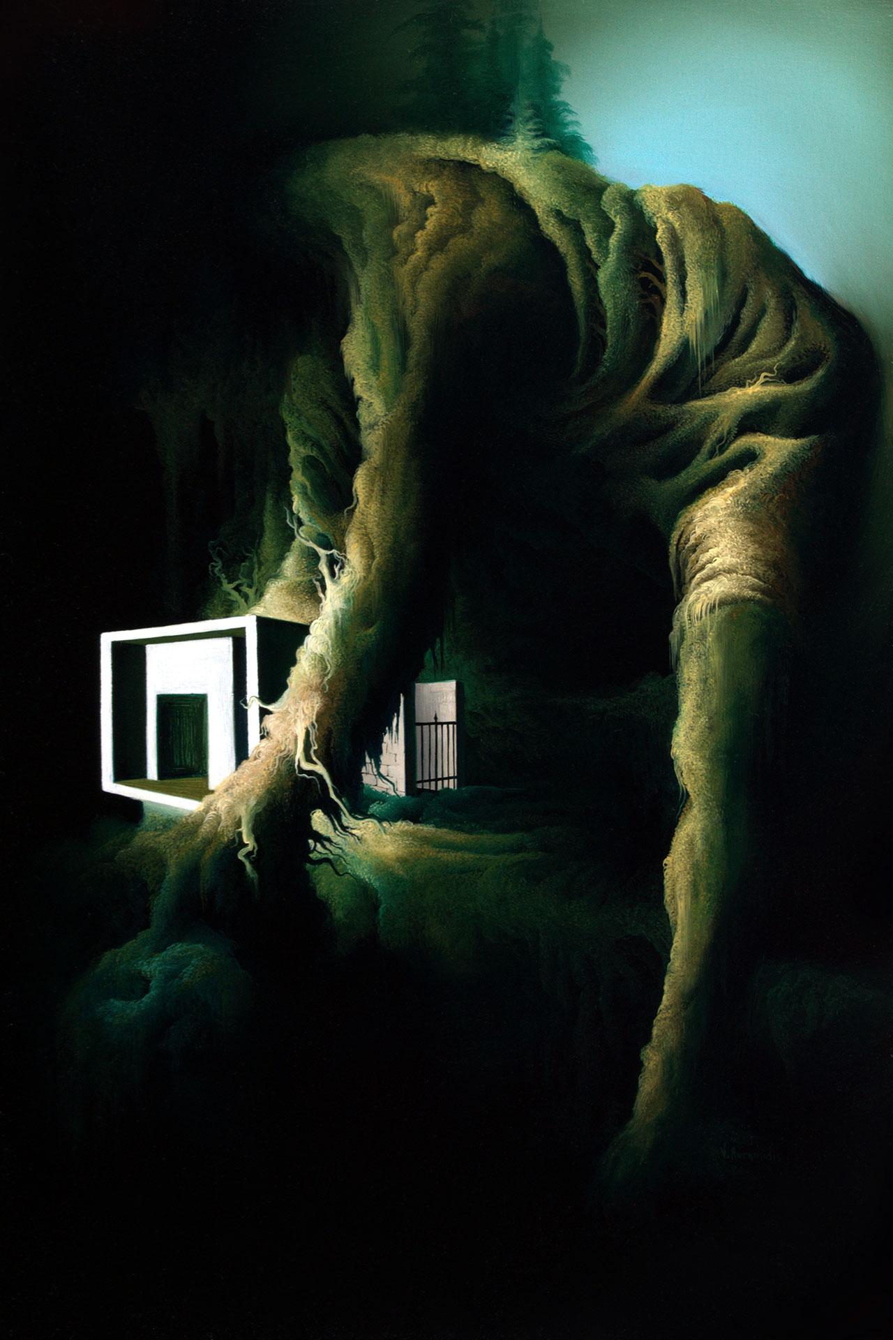 Vasilis Avramidis,Resident, 2014, 60x40cm oil on canvas.