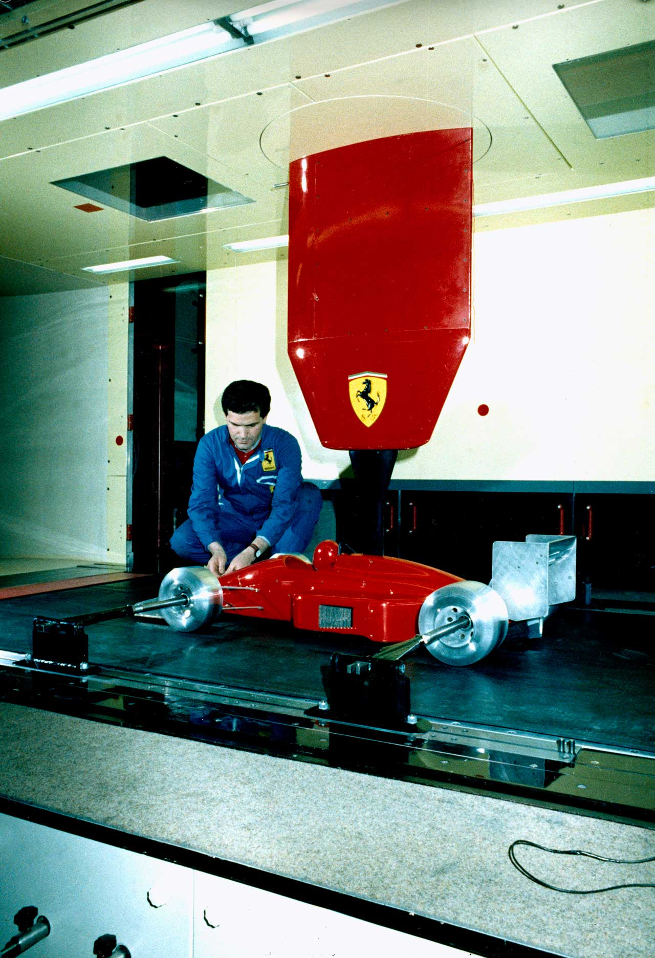 The new Wind Gallery for Aerodynamic Tests with 1-3 scale models. Photo courtesy of Ferrari.
