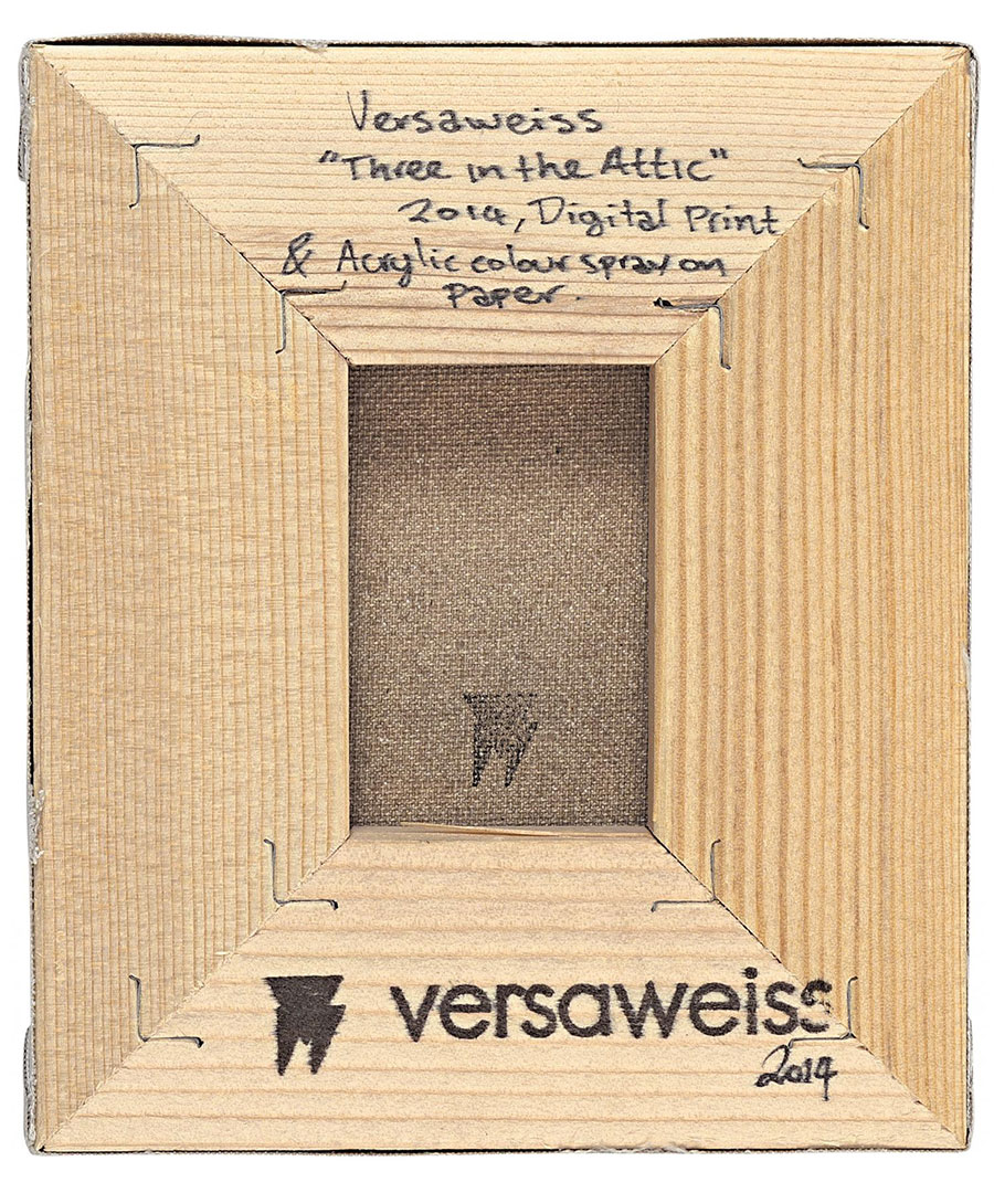 VERSAWEISS  THREE IN THE ATTIC (back)2014, Greece.