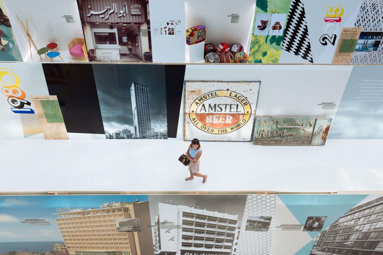 Installation view. Brilliant Beirut, photo© Dubai Design Week 2015.