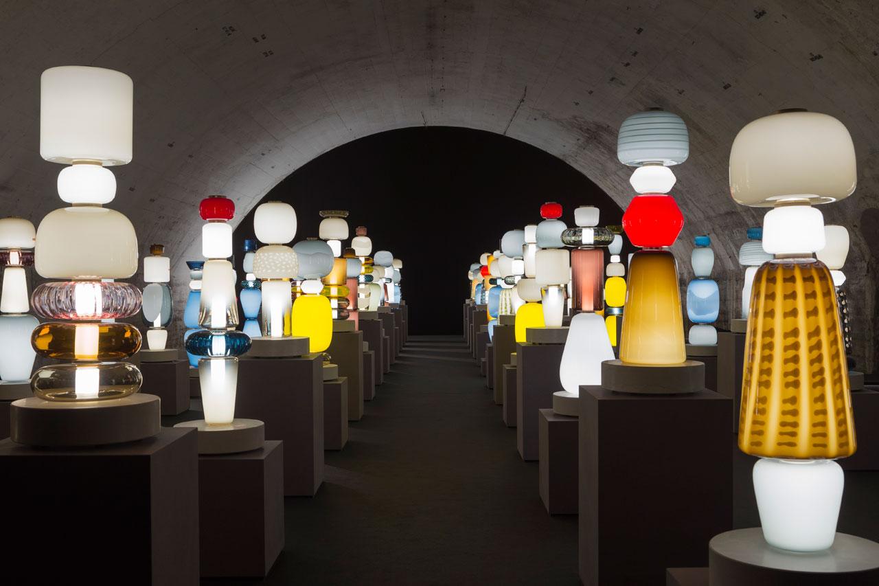 PYRAE / STRATA installation by Luca Nichetto for SALVIATIatVentura Centrale.Photo by Maurizio Polese.