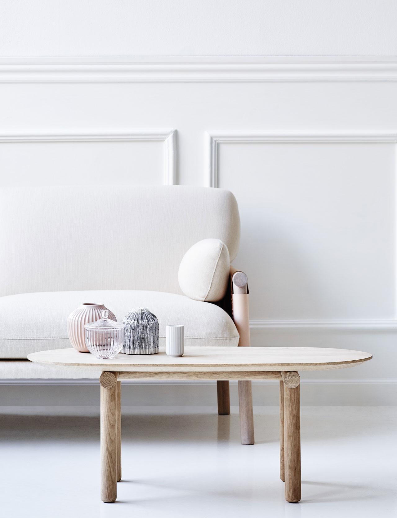 The latest addition in the Savannah furniture series by Monica Förster for Erik Jørgensen. Savannah table, photo©Erik Jørgensen.