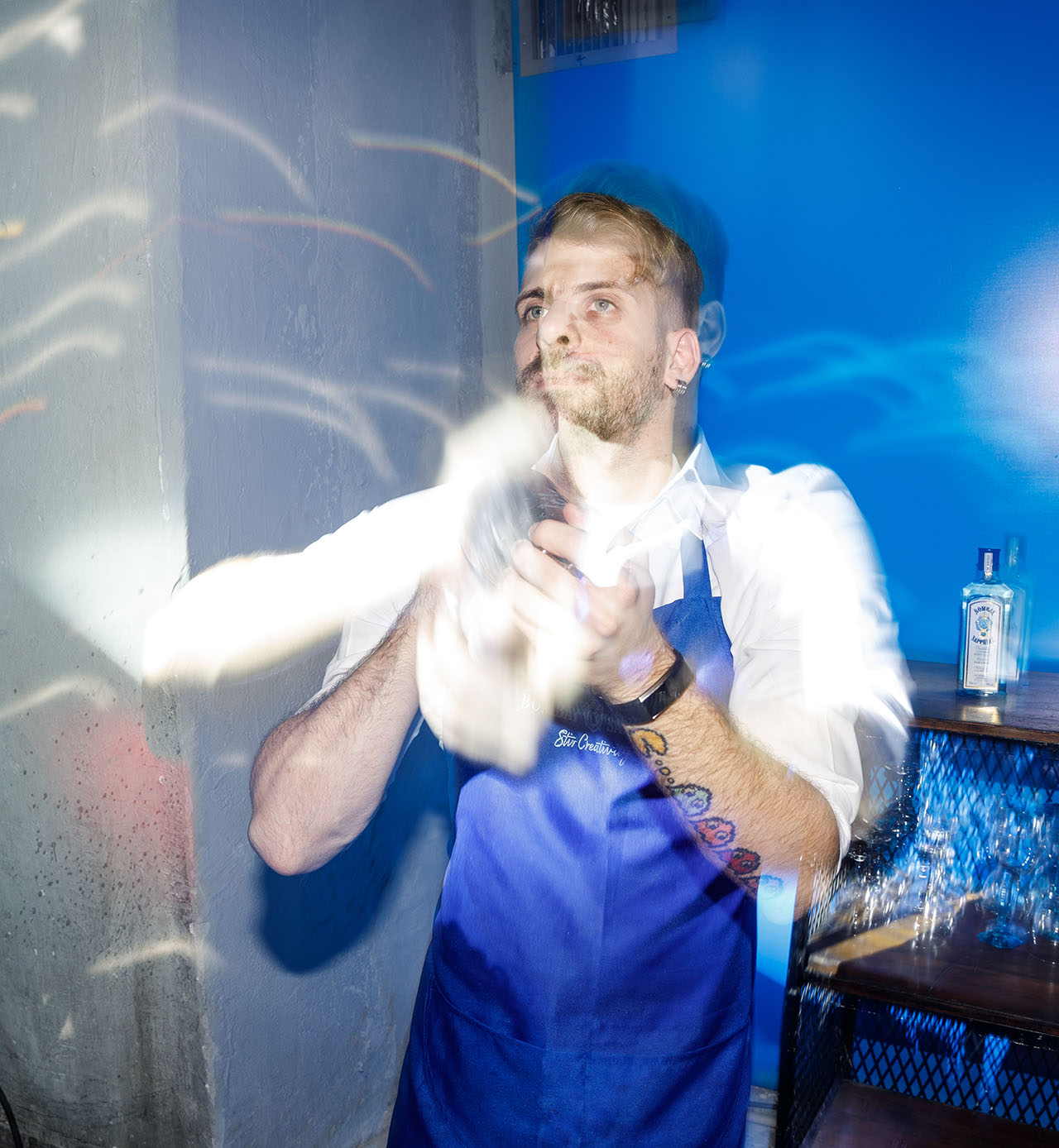 CANVAS event by Bombay Sapphire, Athens, January 2019. Photo by Spyros Chamalis © Yatzer 2019.