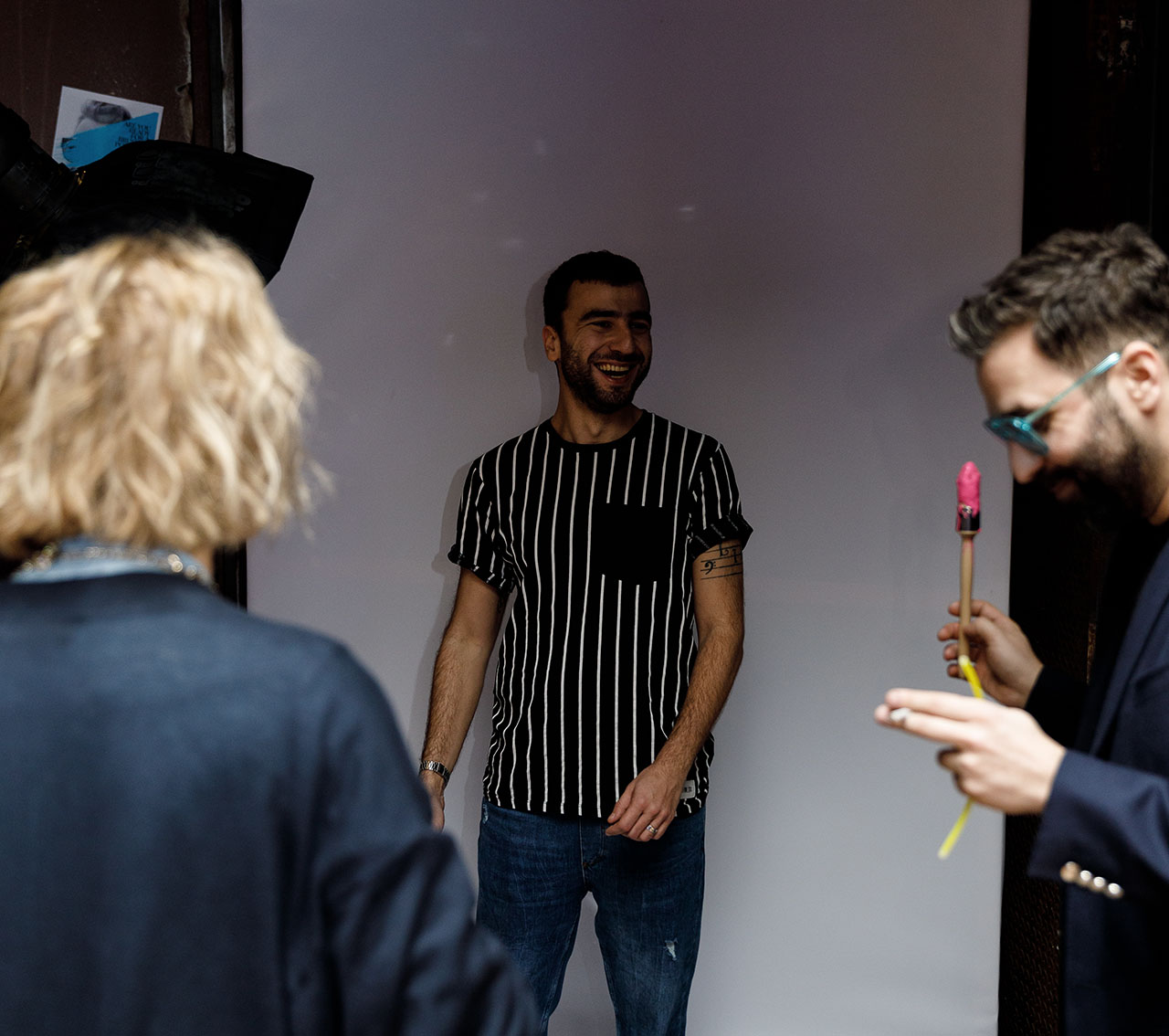 Pop-up photo studio where guests could be photographed by Ioanna Tzetzoumi. Photo by Spyros Chamalis © Yatzer 2019.