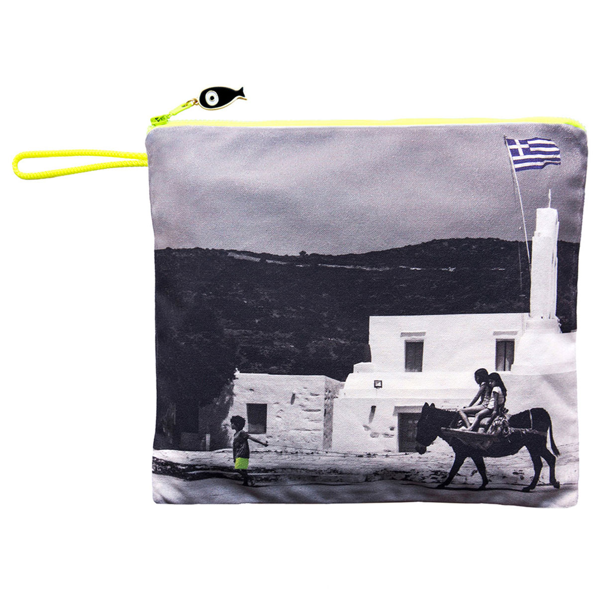 SIFNOS, Waterproof Summer Beach Canvas Pouch. Photo © Marina Vernicos.