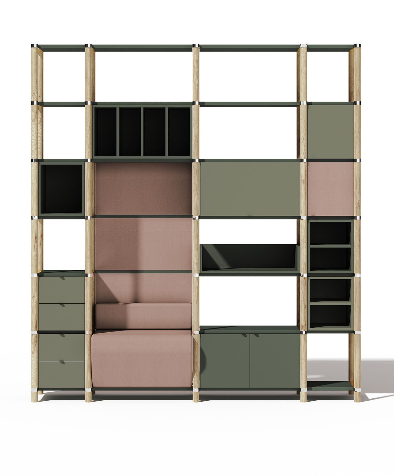 Stem, System of modular bookcase Philippe Nigro for Manerba.Photo by Philippe Nigro.