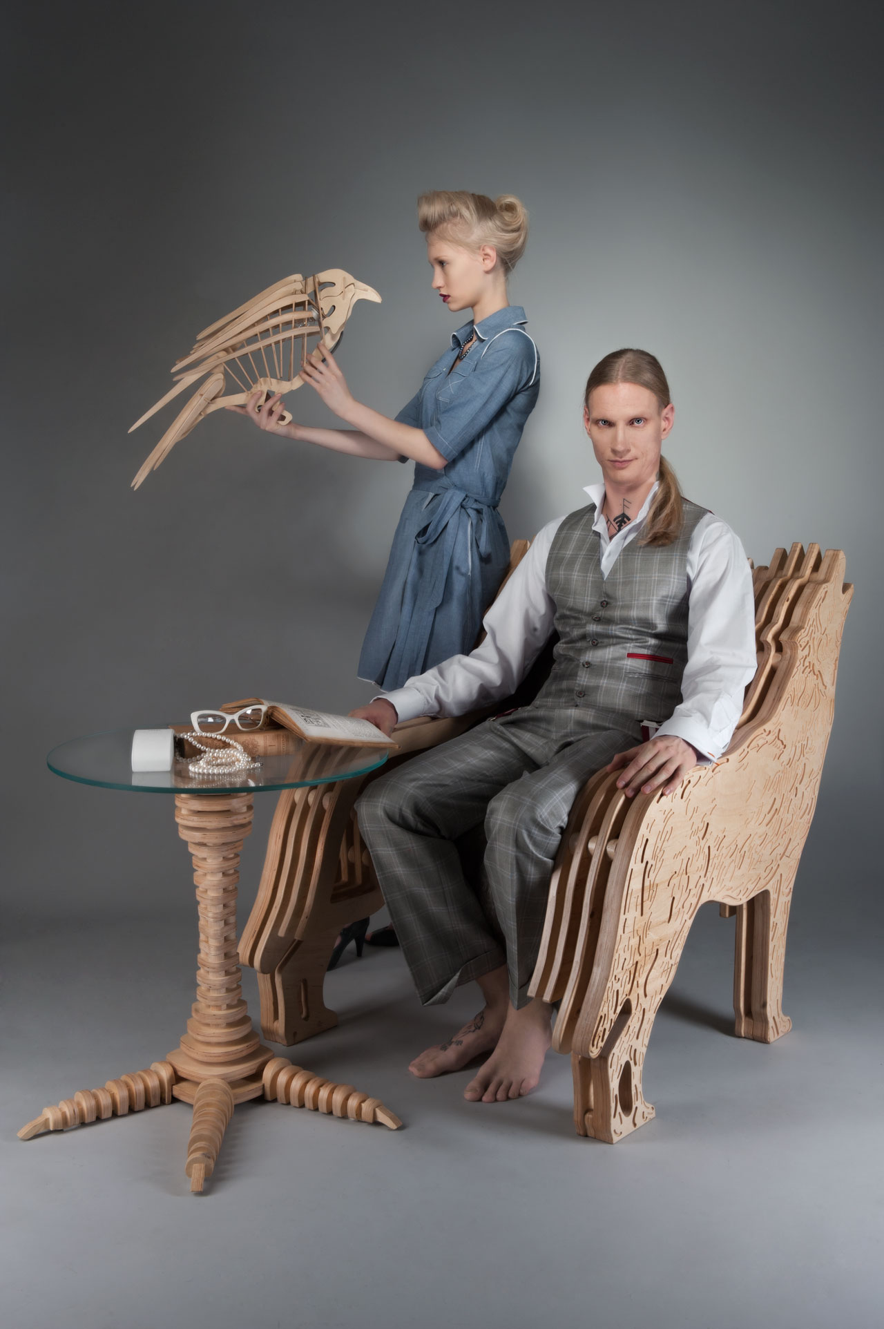 A series of furniture inspired by fables by SVAROG. Photo byAneta Kowalczyk & Kacper Lipinski/Kiali.