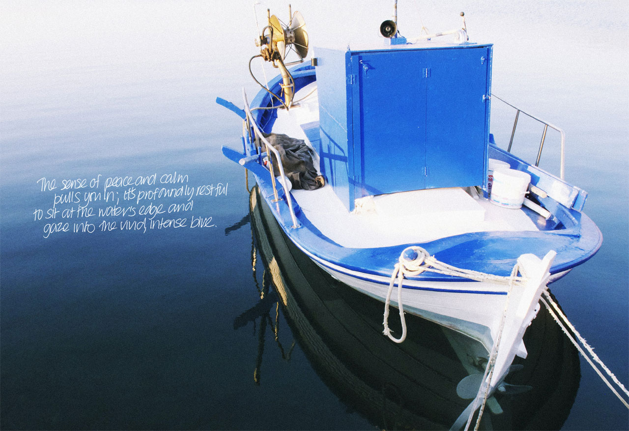 page from 'My Greek Island Home' photo © Claire Lloyd, Image Courtesy of Penguin, Australia
