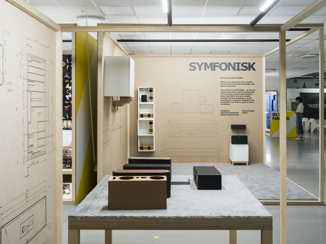 SYMFONISK range preview by Ikea in collaboration with SONOS.Available in 2019.Photo © Inter IKEA Systems B.V.