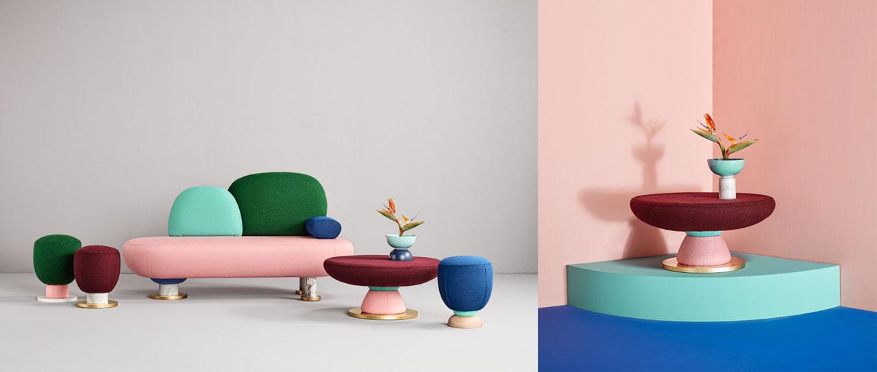 Toadstool furniture collection Masquespacio studio.