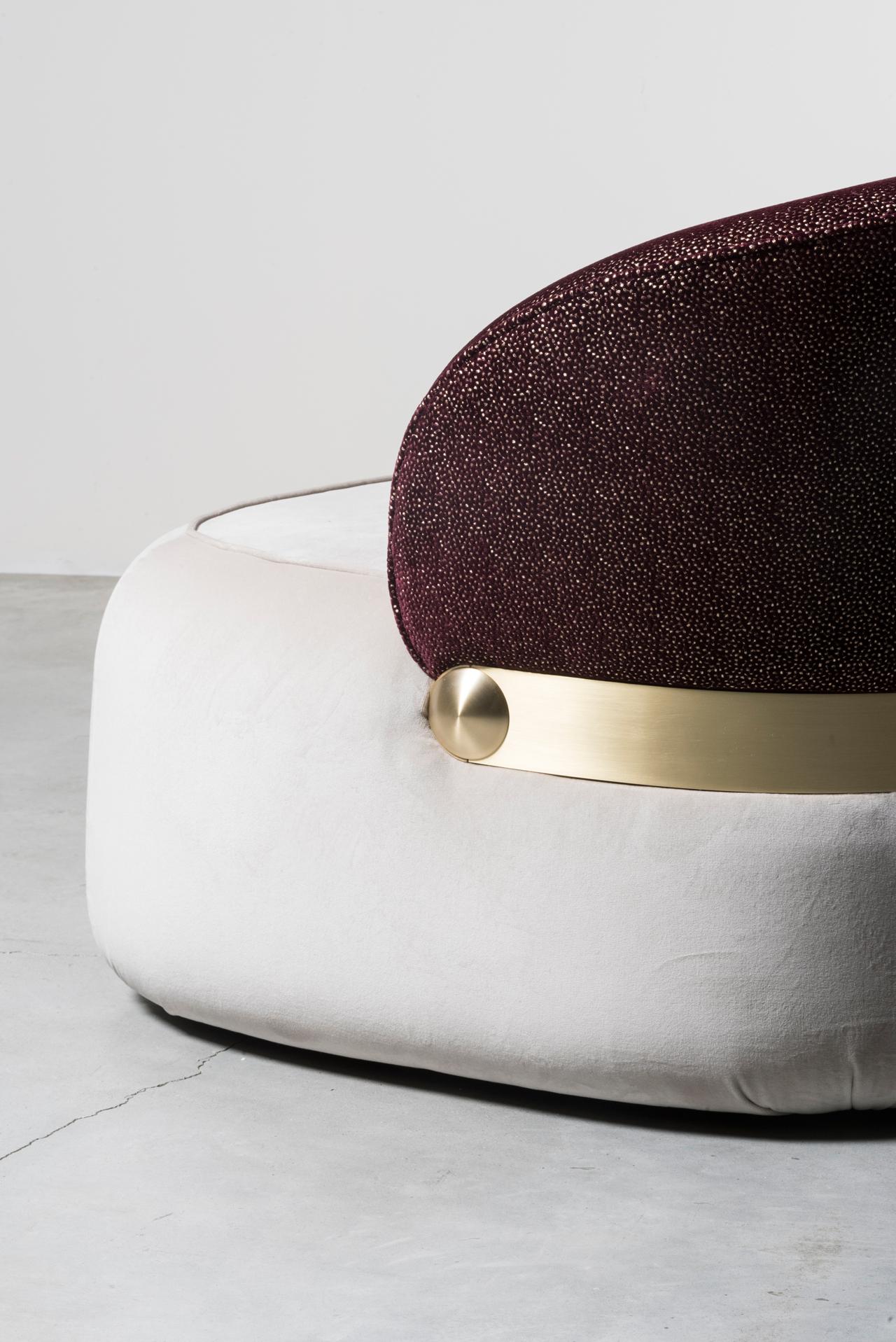 Visiera sofa (detail) by Cristina Celestino for Nilufar gallery. Photo©Daniele Iodice.