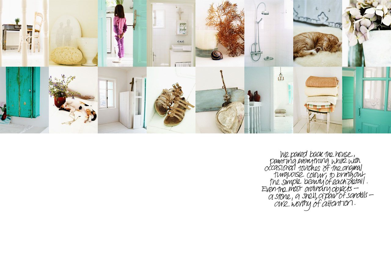 page from 'My Greek Island Home'photo © Claire Lloyd, Image Courtesy of Penguin, Australia