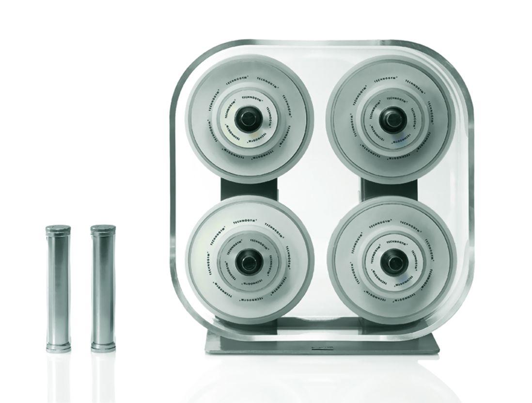 Wellness Rack, an elegant and functional weight kit by Technogym,© Technogym.