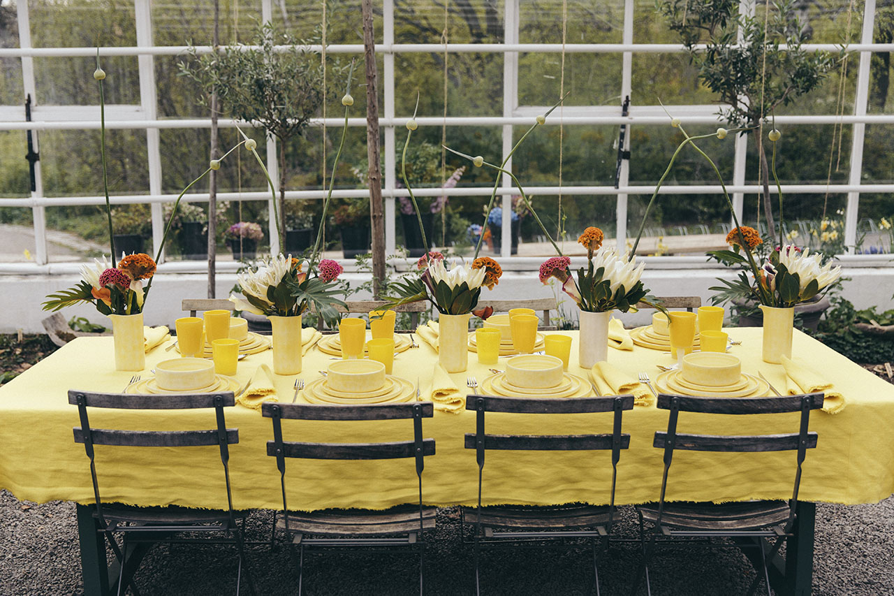 "Celebrating the launch of ""Mateus meets Sam Baron meets Yatzer"" collection in yellow at Mateus Meets Fashion 2019, Stockholm, Sweden. Photo by Rasmus Lindahl © Mateus."