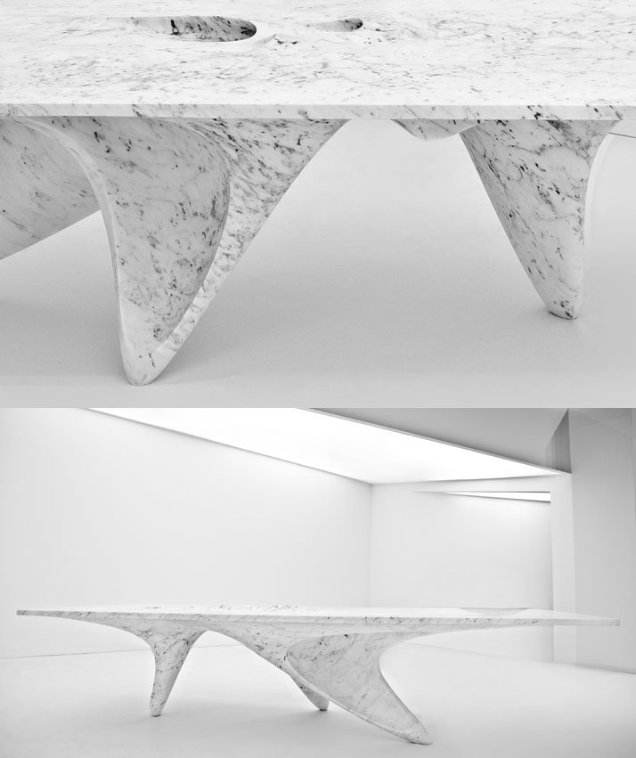 Luna table by Zaha Hadid for Citco. Photo by Jacopo Spilimbergo.