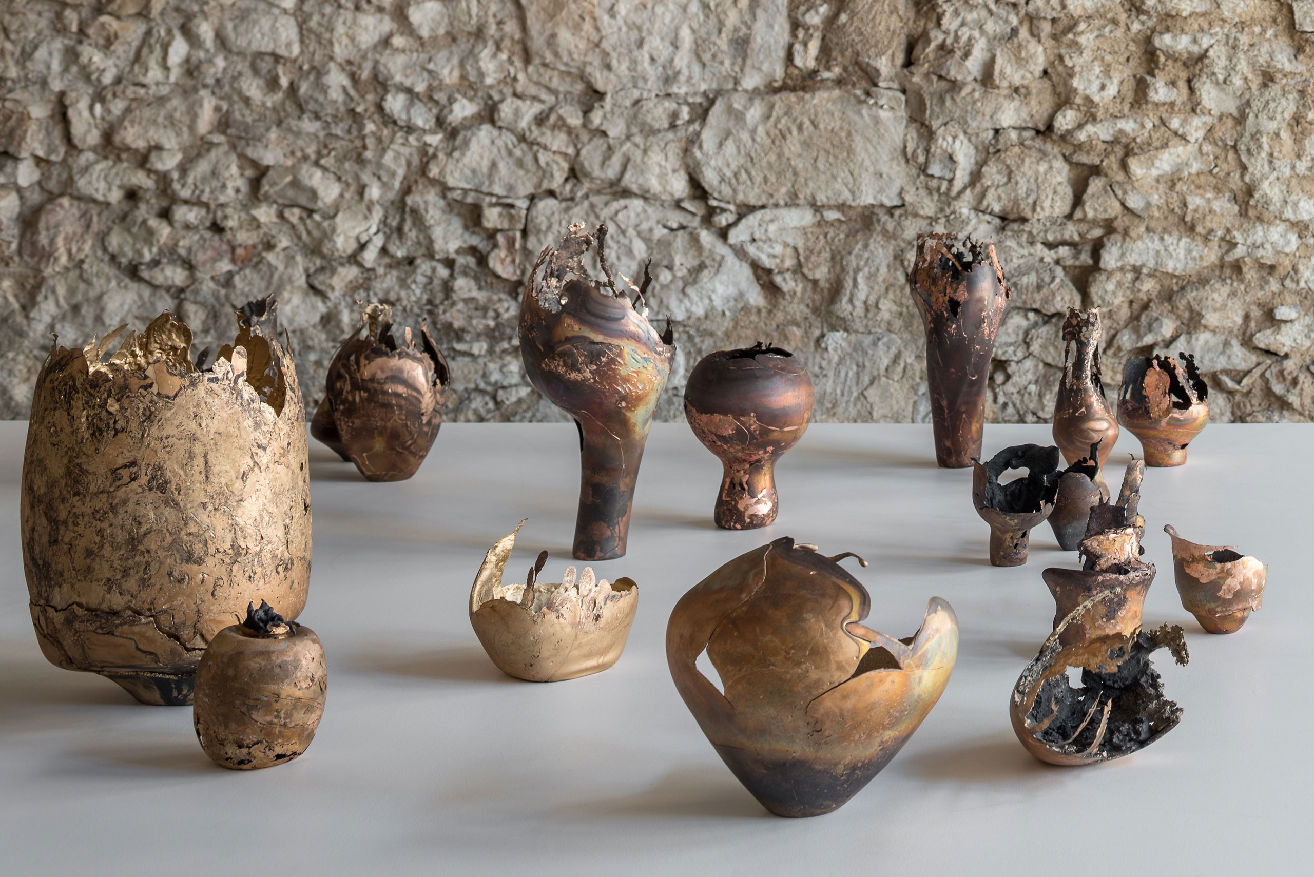 Exhibition view. Omer Arbel, 113 at Carwan gallery, Athens. Photo by Giorgos Sfakianakis.