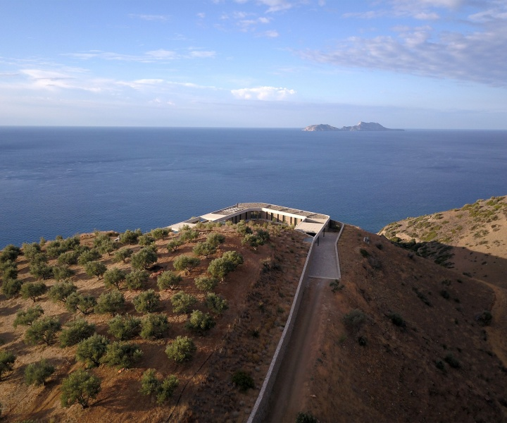 DECA Architecture's Ring House Discreetly Embraces the Rugged Landscape of Southern Crete