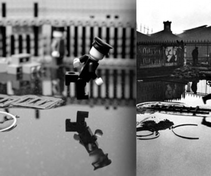 Classic Photographs re-created with Lego Bricks