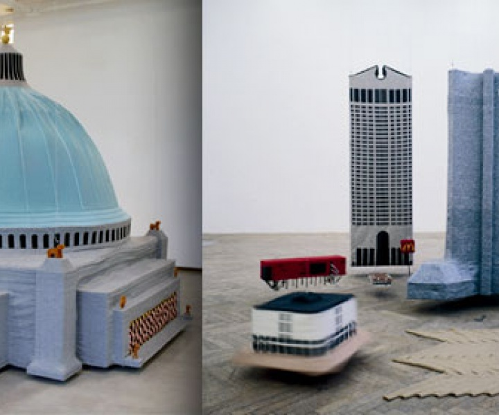Makeover of German Architecture into Knitted Art