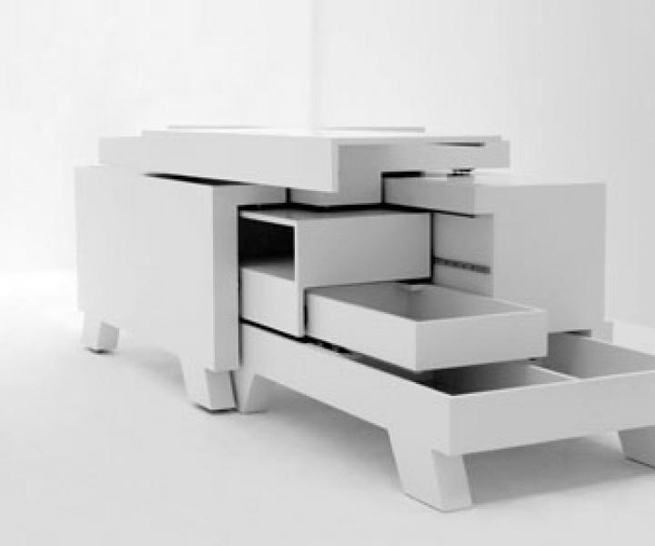Martin Sämmer's transformer shelf