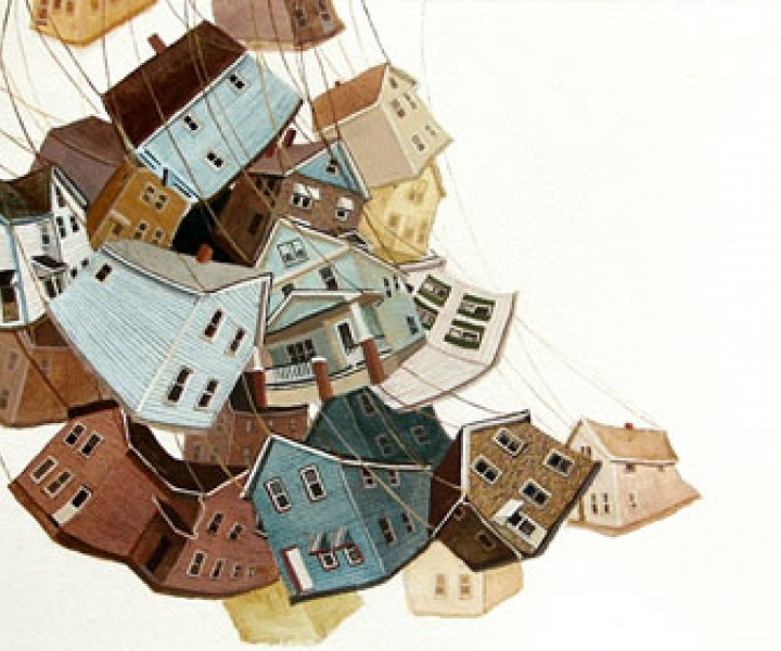 Amy Casey and her falling cities