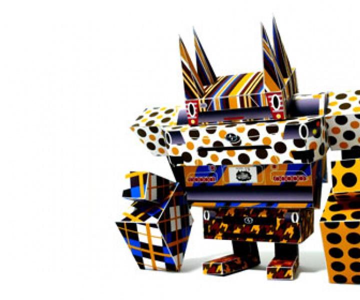 Paper toys by  Shin Tanaka