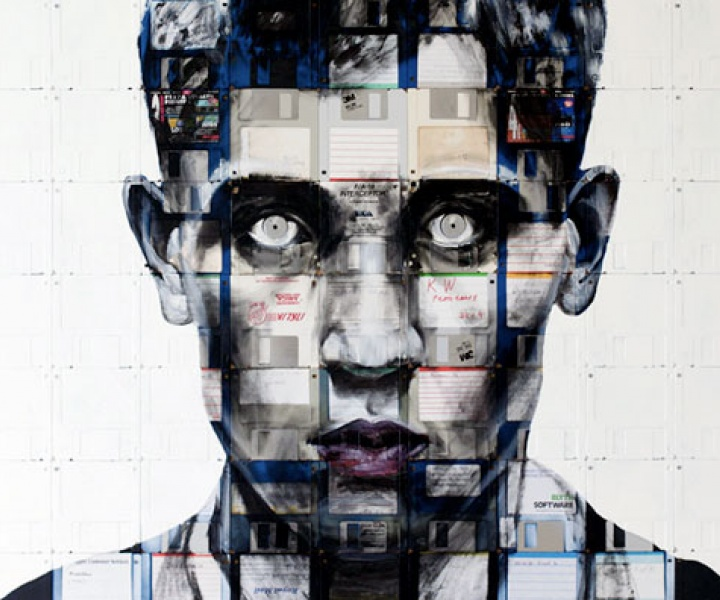 Floppy Portraits by Nick Gentry