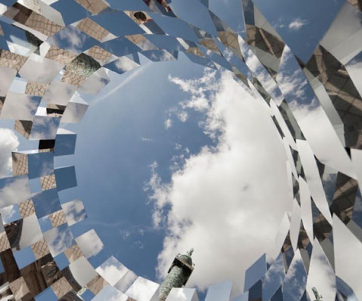 'Ring' Mirror Installation by Arnaud Lapierre @Place Vendôme, Paris