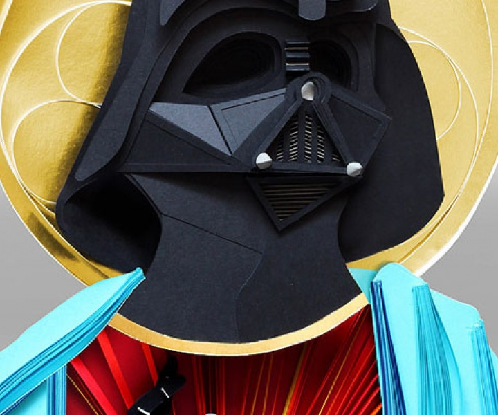 V.O.W N°49 // Holy Paper crafted Darth Vader by Lobulo Design