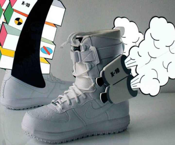 Custom Nike Zoom Force-1 Snow Boots by Marcus Tremonto