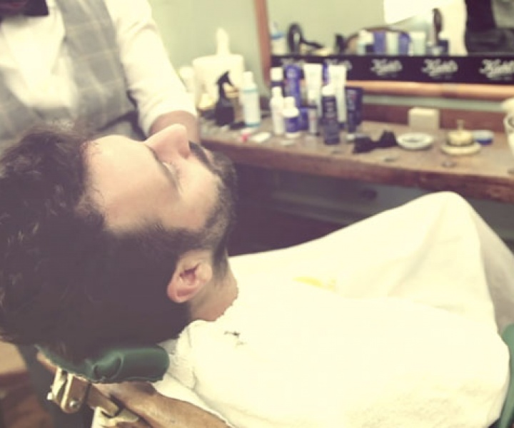 Yatzer at '1900 The Barber Shop' with Kiehl's Greece