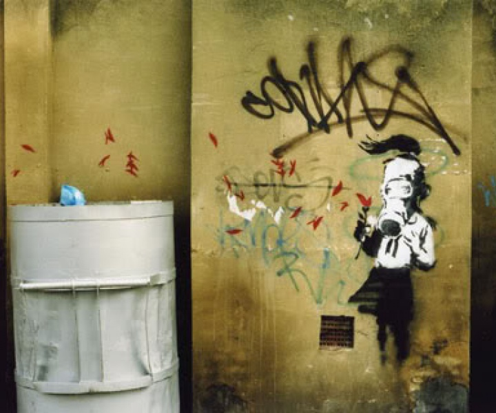 Banksy in action