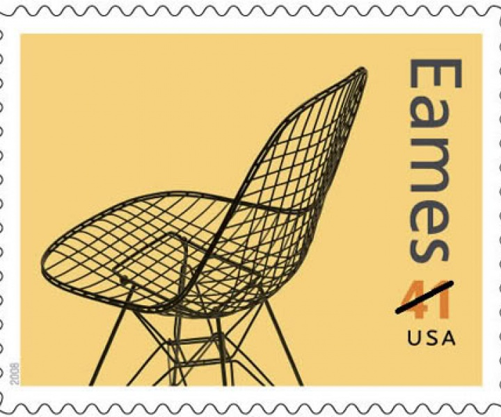 Charles & Ray Eames Stamp Set designed by Derry Noyes for USPS