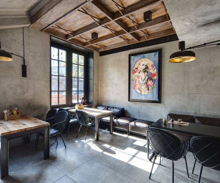 Dogs&Tails Bar and Café in Kiev, Ukraine by Sergey Makhno Architects.