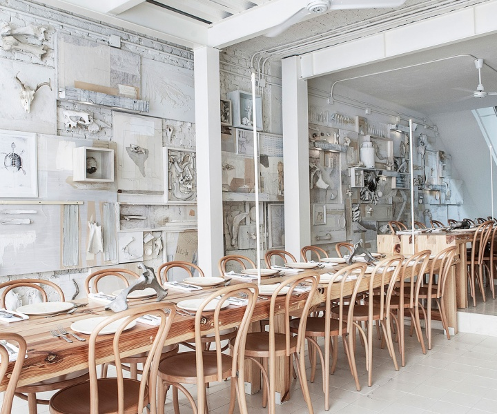 Hueso Restaurant, a Curiosity Cabinet of 10,000 Bones in Mexico