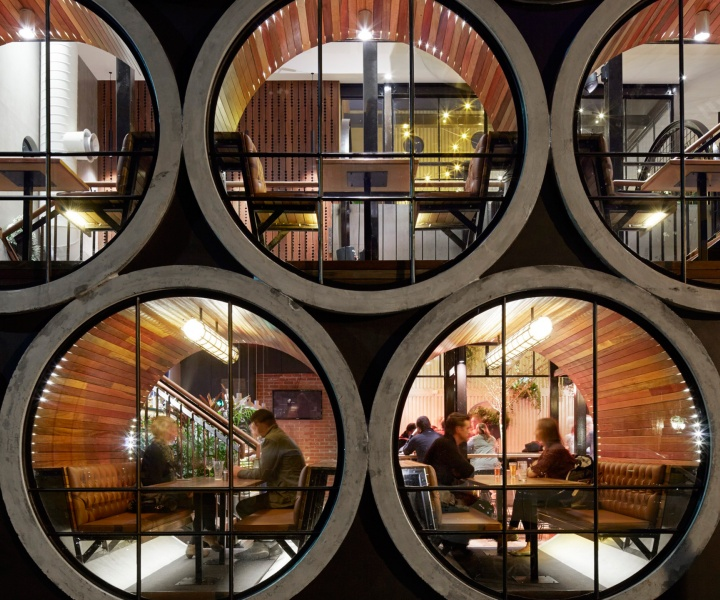 Drinking And Dining Inside Concrete-Pipes At The Prahran Hotel In Melbourne, Australia