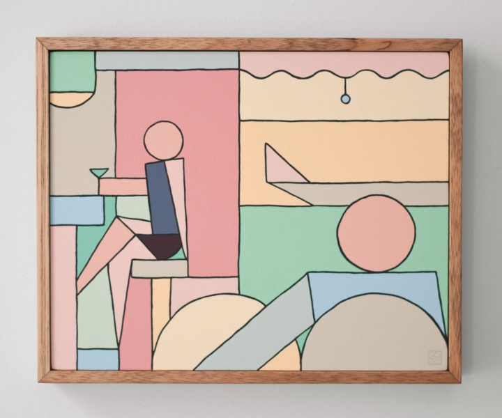 A Moment of One's Own: Block-Colour Paintings by Stephen Baker