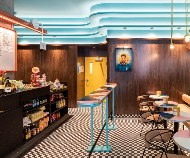 An Italian Bar by MRDK in Montreal Channels the Exuberant Design of the 1990s