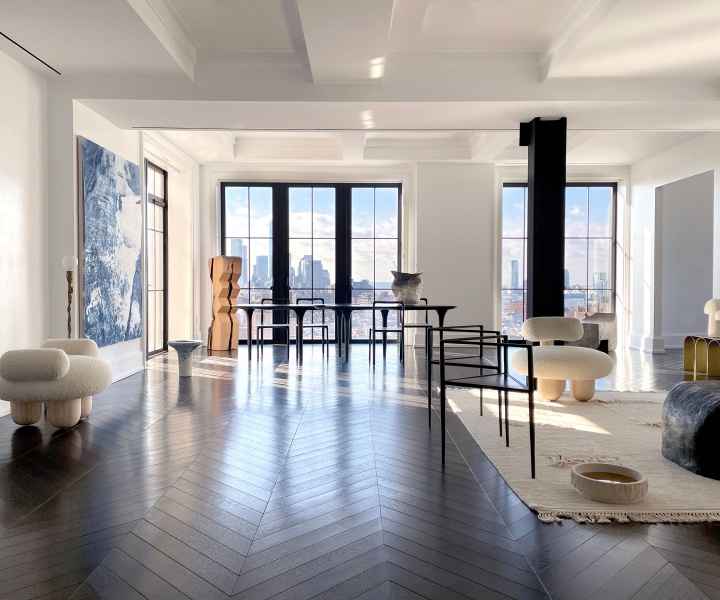 New York's Skyline Uplifts Galerie Philia's Art & Design Exhibition at Walker Tower