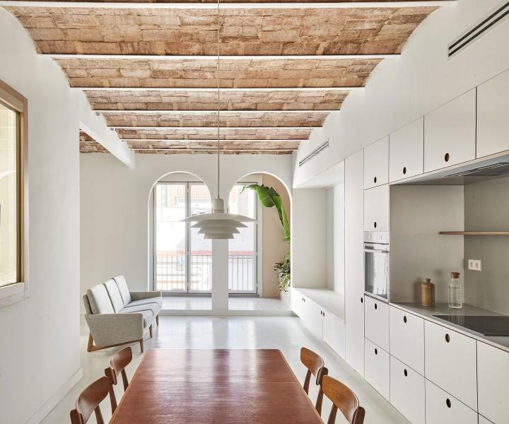 Crisp Minimalism Redefines a Historic Barcelona Apartment